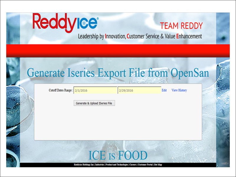 REDDY ICE ADMIN TOOL